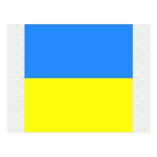 Bandera de alta calidad de Ucrania Tarjeta Postal