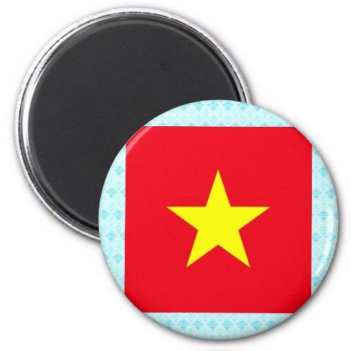 Bandera de alta calidad de Vietnam Imán Redondo 5 Cm