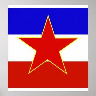 Bandera de alta calidad de Yugoslavia Póster