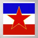 Bandera de alta calidad de Yugoslavia Posters