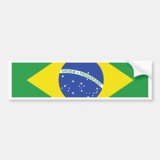 Bandera de alta calidad del Brasil Etiqueta De Parachoque