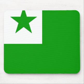 Bandera de alta calidad del esperanto alfombrillas de raton