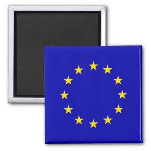 Bandera de alta calidad del Europa Imán Cuadrado