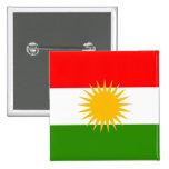 Bandera de alta calidad del Kurdistan Pin