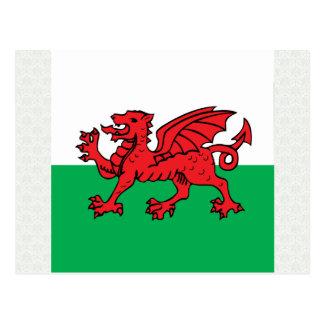 Bandera de alta calidad Galés Postal