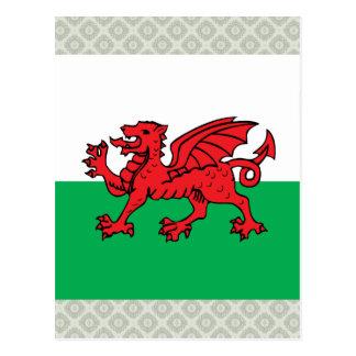 Bandera de alta calidad Galés Postales