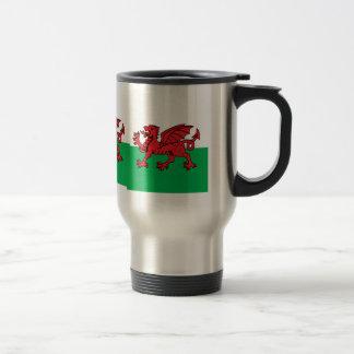 Bandera de alta calidad Galés Taza De Viaje De Acero Inoxidable