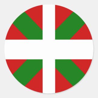 Bandera de alta calidad vasca pegatina redonda