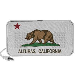 Bandera de Alturas de la república de California iPod Altavoz
