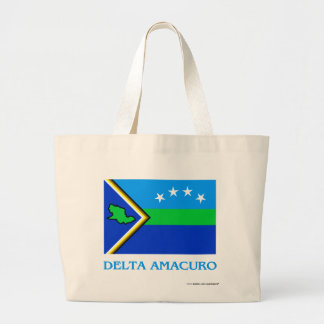 Bandera de Amacuro del delta con nombre Bolsas De Mano