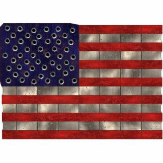 Bandera de Amercian del metal, imán del recorte Esculturas Fotograficas