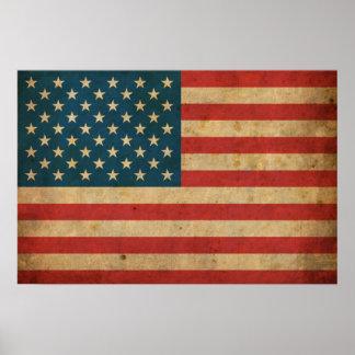 Bandera de América del vintage Impresiones