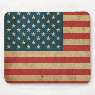 Bandera de América del vintage Tapete De Ratones
