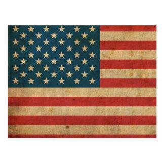 Bandera de América del vintage Tarjeta Postal