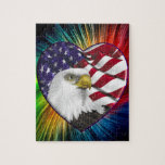 Bandera de American Eagle n Puzzle Con Fotos