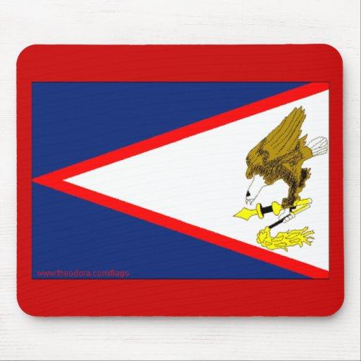 Bandera de American Samoa Alfombrillas De Raton