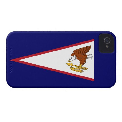 Bandera de American Samoa Case-Mate iPhone 4 Carcasas