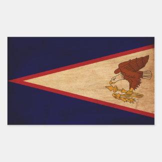 Bandera de American Samoa Pegatina Rectangular