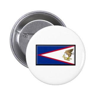 Bandera de American Samoa Pin Redondo 5 Cm