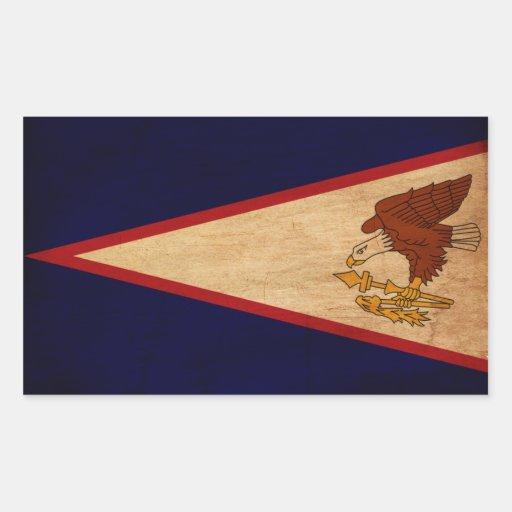 Bandera de American Samoa Rectangular Pegatina