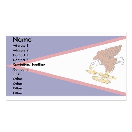 Bandera de American Samoa Plantillas De Tarjetas De Visita