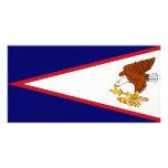 Bandera de American Samoa Tarjeta Personal Con Foto