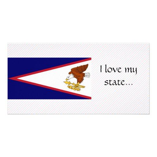 Bandera de American Samoa Tarjetas Fotográficas