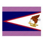 Bandera de American Samoa Tarjetas Postales