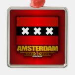 Bandera de Amsterdam Adorno De Navidad