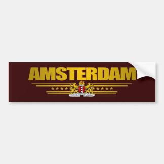 Bandera de Amsterdam Etiqueta De Parachoque