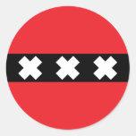 Bandera de Amsterdam Etiqueta