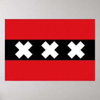 Bandera de Amsterdam Posters
