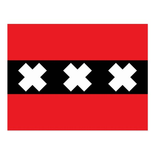 Bandera de Amsterdam Tarjetas Postales