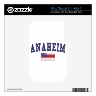 Bandera de Anaheim los E.E.U.U. Calcomanía Para iPod Touch 4G