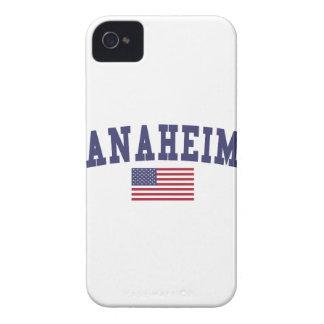 Bandera de Anaheim los E.E.U.U. iPhone 4 Cárcasas