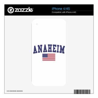 Bandera de Anaheim los E.E.U.U. iPhone 4S Calcomanía