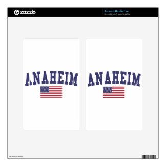 Bandera de Anaheim los E.E.U.U. Kindle Fire Skins