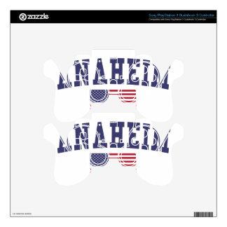 Bandera de Anaheim los E.E.U.U. Mando PS3 Calcomanía