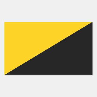 Bandera de AnCap Pegatina Rectangular
