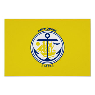 Bandera de Anchorage Póster