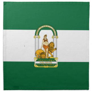 Bandera de Andalucía (España) Servilletas
