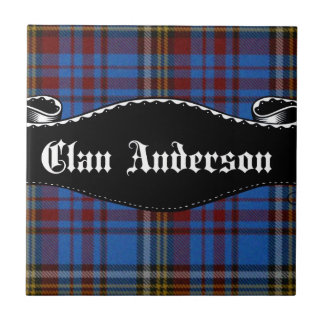Bandera de Anderson del clan Azulejo Cuadrado Pequeño