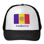 Bandera de Andorra con nombre Gorras