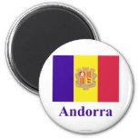 Bandera de Andorra con nombre Iman Para Frigorífico