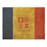 Bandera de Andorra del vintage Tarjetas Postales
