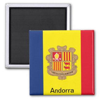 Bandera de Andorra Imán Cuadrado