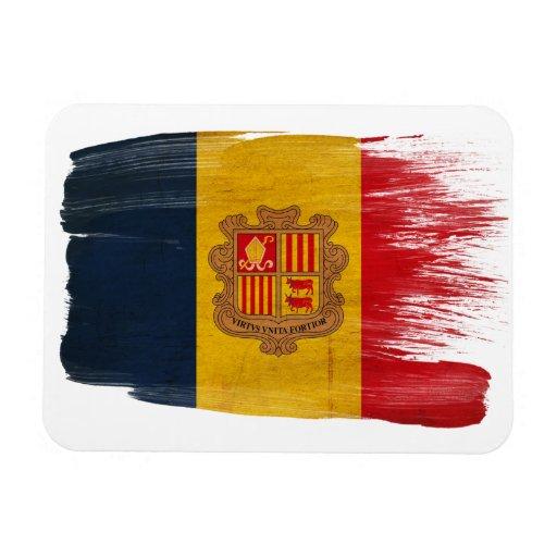 Bandera de Andorra Imán Foto Rectangular