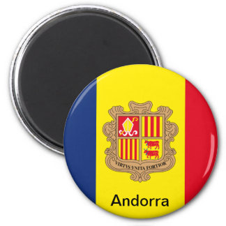 Bandera de Andorra Imán Redondo 5 Cm