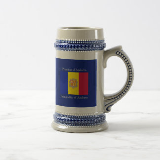 Bandera de Andorra Jarra De Cerveza