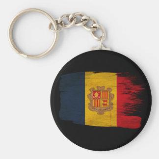 Bandera de Andorra Llavero Redondo Tipo Pin